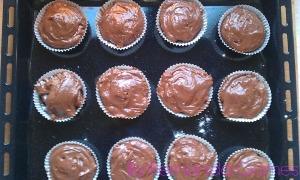 Muffin recheado de nutella14