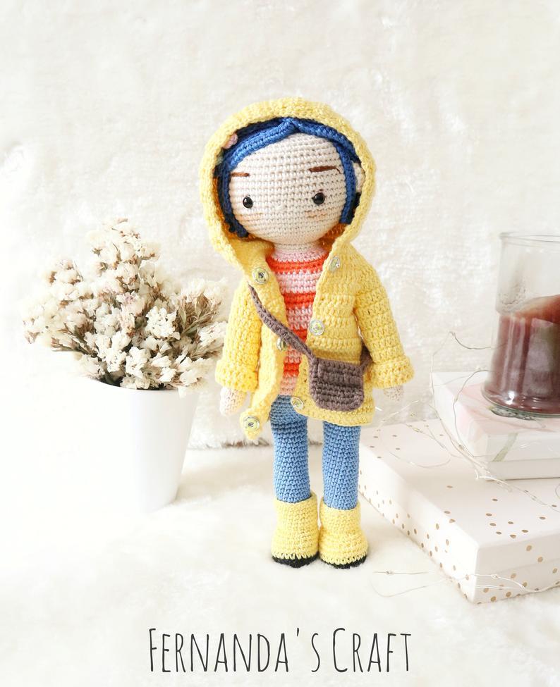 Bambola fatta a mano di Coraline - regalo